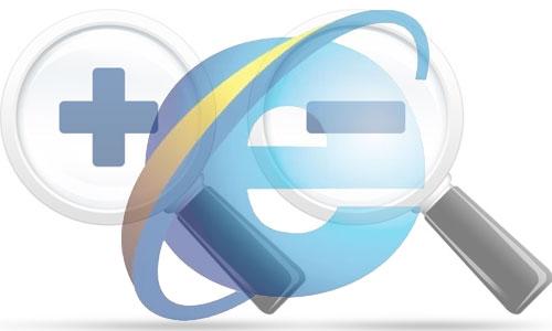 internet explorer zoom