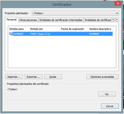 certificado hacienda almacen certificados