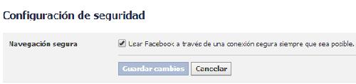 facebook configurar https configuracion segura