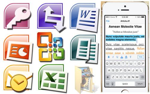 ipad archivos office