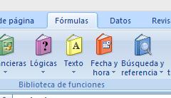 excel 2007 pestana formulas