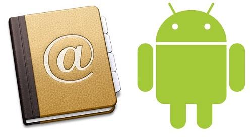 android contactos cuenta google