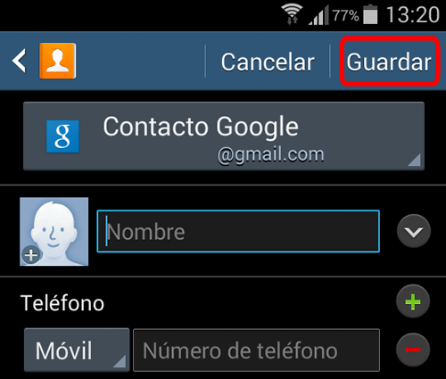 android guardar contactos cuenta google guardar