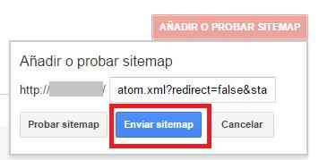 google webmaster tools probar sitemap
