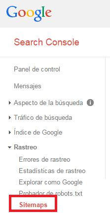 google webmaster tools rastreo sitemaps