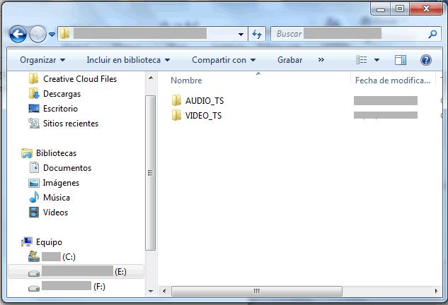 reproducir archivos copiados de un dvd
