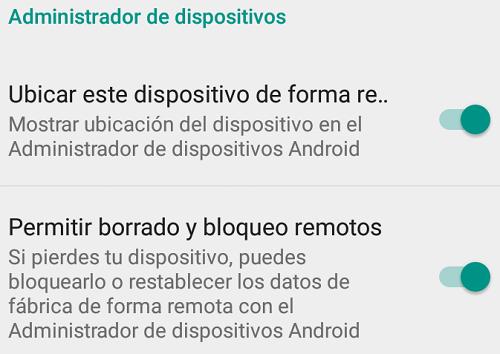 desbloquear movil android opciones
